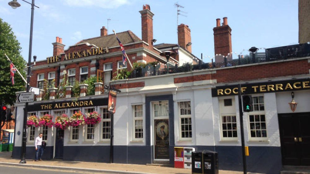 The Alexandra Pub is a great place to eat on Christmas Day in London