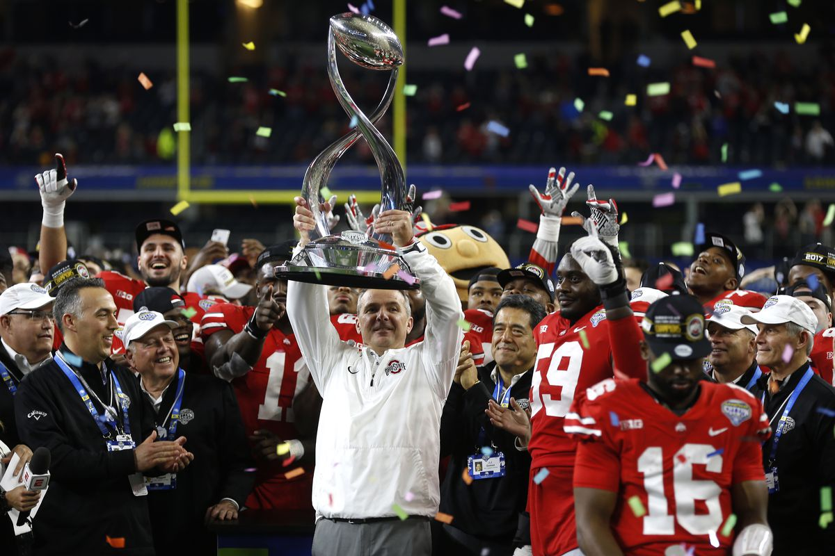 Photo by Ron Jenkins Getty Images. Ohio State s powerhouse football coach c9d23173a