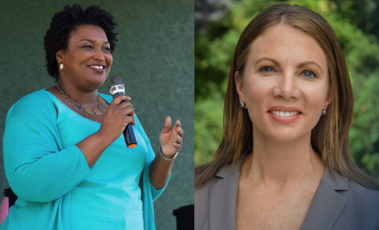 Stacey Abrams and Stacey Evans