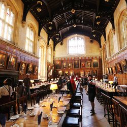 Christ Church, Oxford University in Oxford, England, on Thursday, June 15, 2017. The dining hall was used in the Harry Potter films.