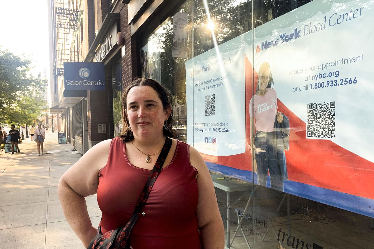 On Wednesday, Elizabeth Certa, 31, of Clinton Hill, came to donate blood at the New York Blood Center's pop-up facility on Atlantic Avenue.