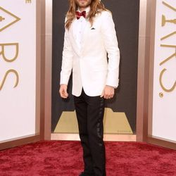 First-time Oscar nominee Jared Leto wore Saint Laurent with a Piaget watch and Neil Lane jewels. Find Saint Laurent at the Shops at Crystals and Piaget at Wynn Las Vegas and the Grand Canal Shoppes.