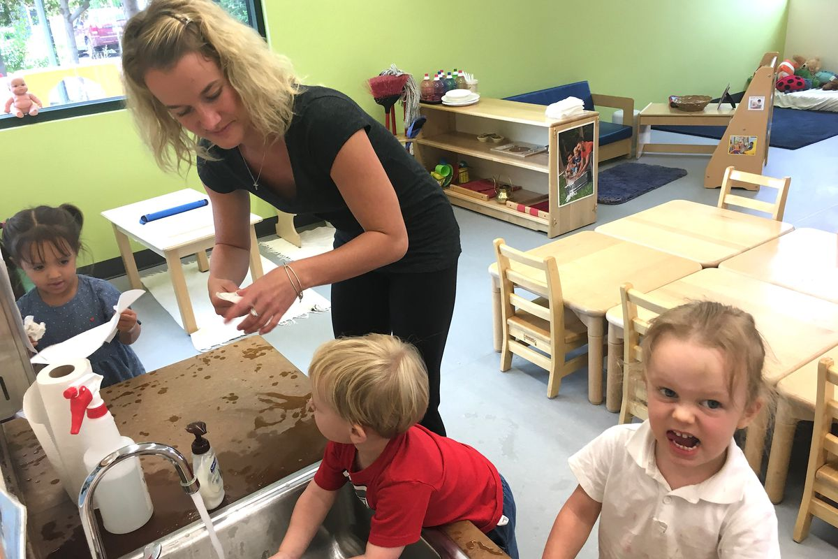 Malanna Newell is a toddler teacher at the Mile High Early Learning center in Denver's Westwood neighborhood. She started as a teaching assistant before taking Mile High's Child Development Associate training last fall.
