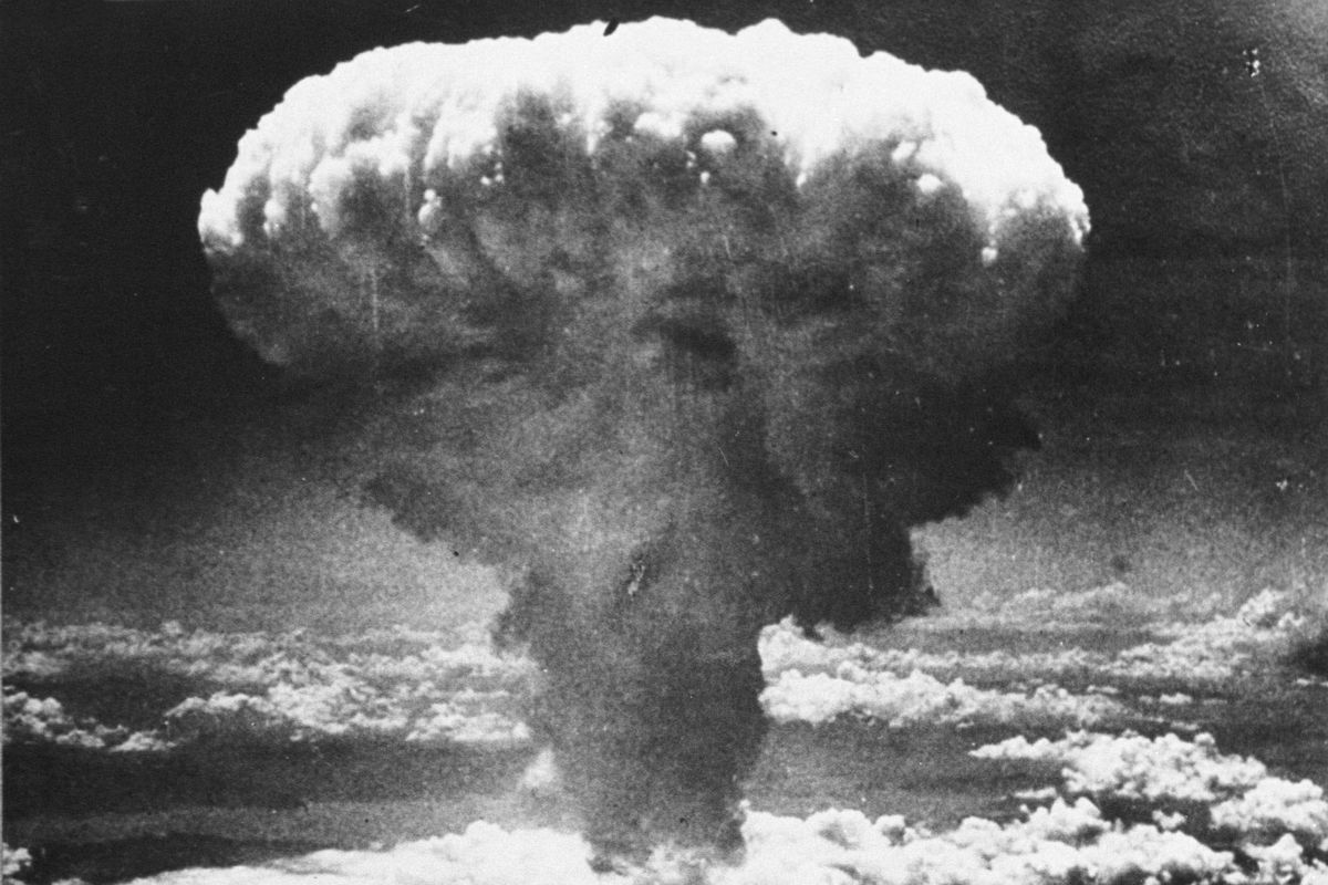 an analysis of the atomic bomb dropped on japan in hiroshima and nagasaki Hiroshima: before and after the atomic bombing  shortly after the atomic bomb was dropped over the japanese city of hiroshima, survivors receive emergency treatment from military medics on .
