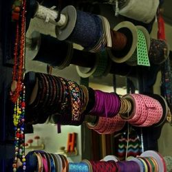 Ribbons and other shop notions.