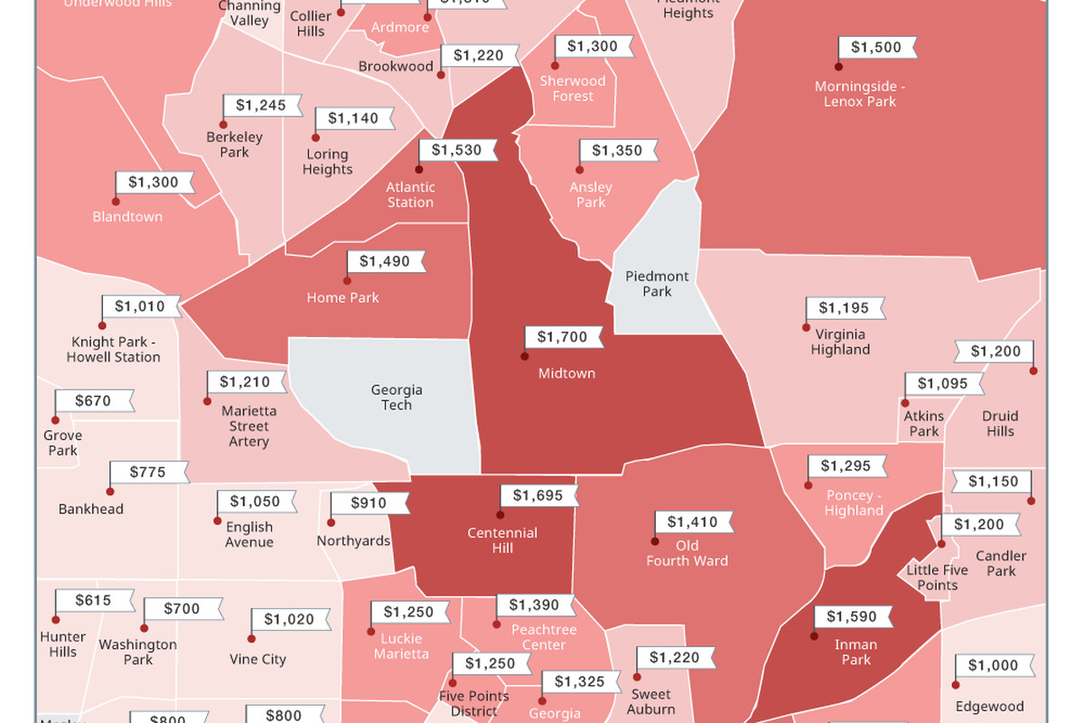 analysis median atlanta 2 bedroom rentals cost 1 700 monthly now midtown and company not getting cheaper