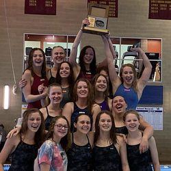 Box Elder's girls celebrate winning the Region 5 championship.