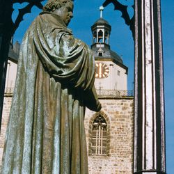 Statues of Martin Luther can be found in town squares throughout Germany.