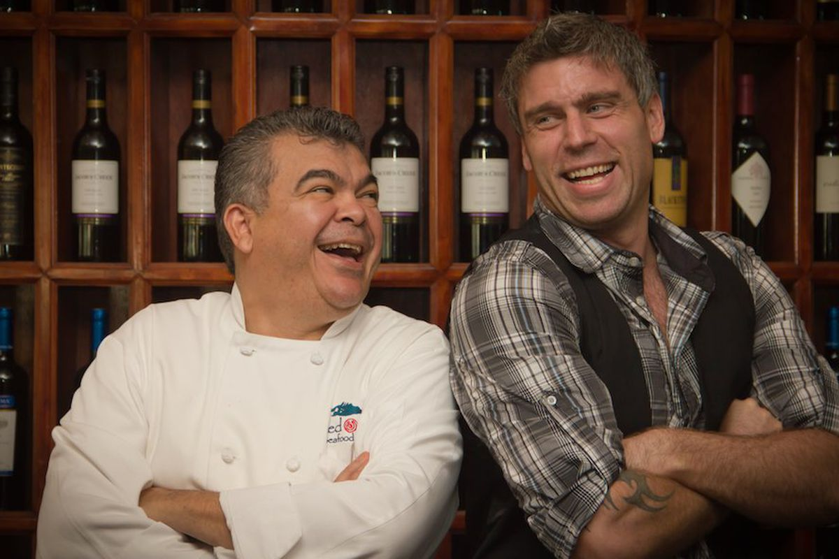 L: chef Rafael Galindo, R: Adam Longworth.