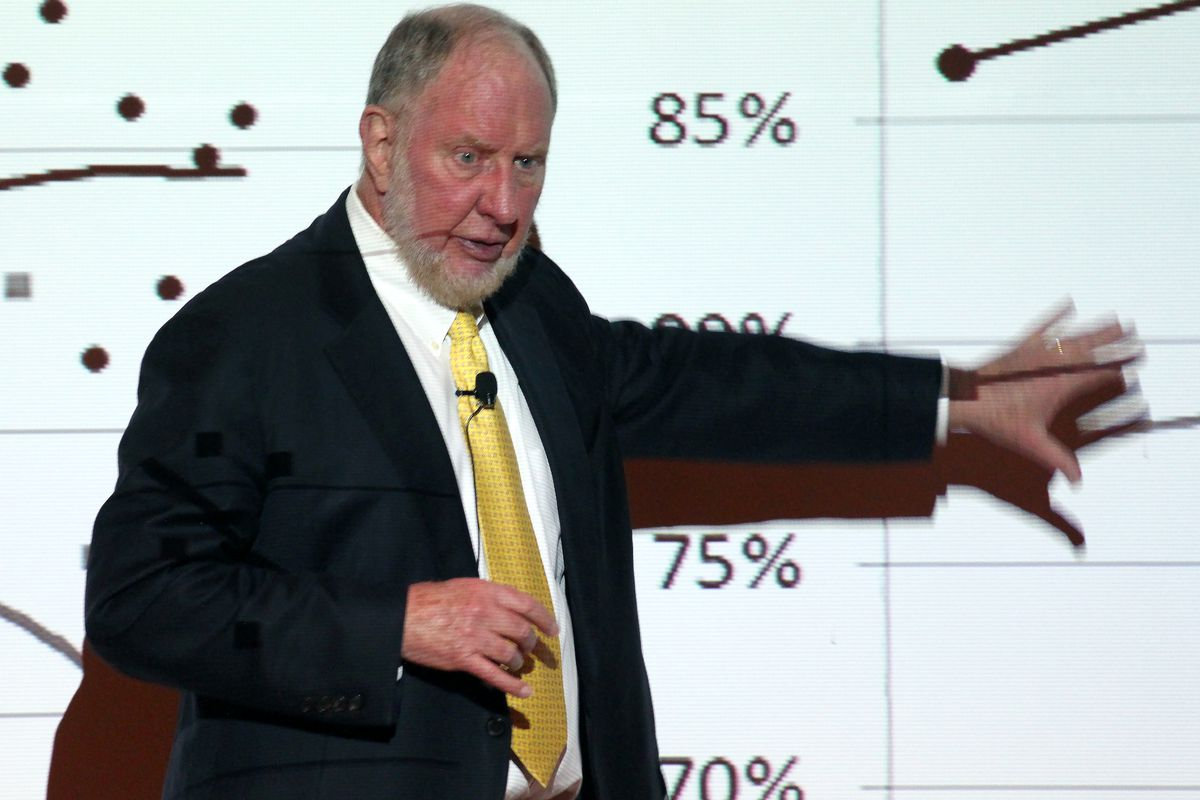 """Harvard professor and author Robert Putnam discusses the opportunity gap that exists between the rich and the poor. Putnam gave a lecture on his most recent book, """"Our Kids: The American Dream in Crisis,"""" at the Denver Museum of Nature and Science Wednesday evening."""