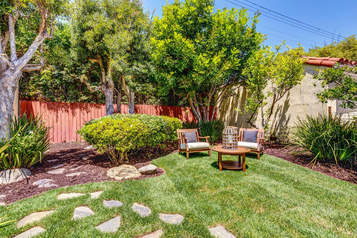 Backyard with outdoor furniture