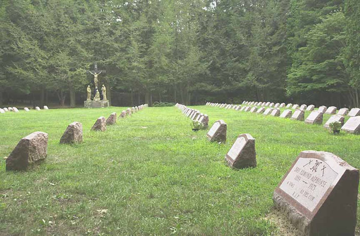 The Marist Brothers cemetery in New York where Brother Robert Ryan is buried.
