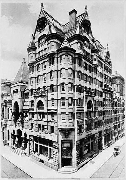 The exterior of the Provident Life and Trust Company in Philadelphia. This is an old historic photograph.
