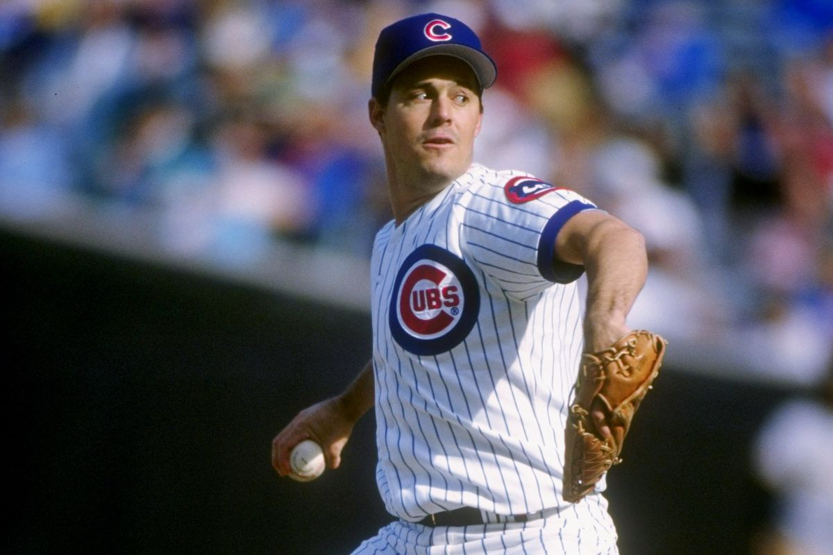 Greg Maddux pitches against the Pirates on his way to his 20th win, September 30, 1992 at Wrigley Field.