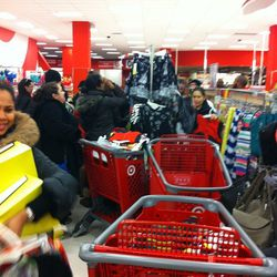 Shoppers rushing the restock.