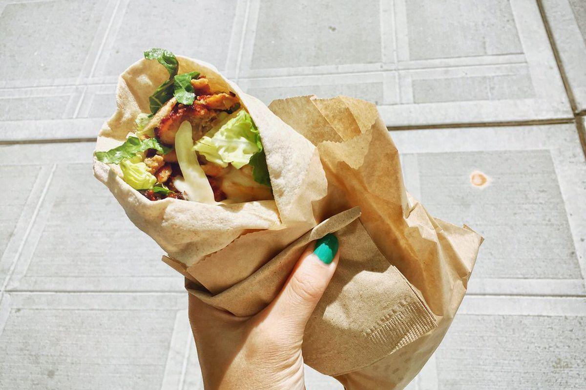 Chicken shawarma at Mamnoon Street.
