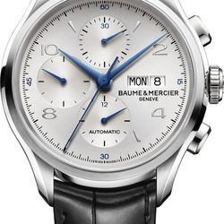 """Being on time is one of the most important aspects of business. Make sure your loved one is always professional—and on time for your V-Day dinner reservation—with an exclusive watch from Baume & Mercier. Baume & Mercier Clifton Watch, $3,800 at <a href=""""h"""