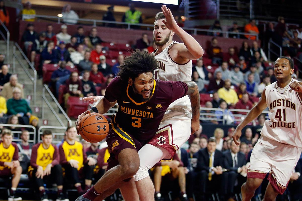 gopher basketball drops acc/big ten challenge game at boston college