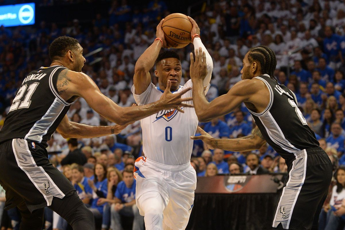 777364e3902 Thunder star Russell Westbrook holds his own feet to the fire after game 3  loss to Spurs