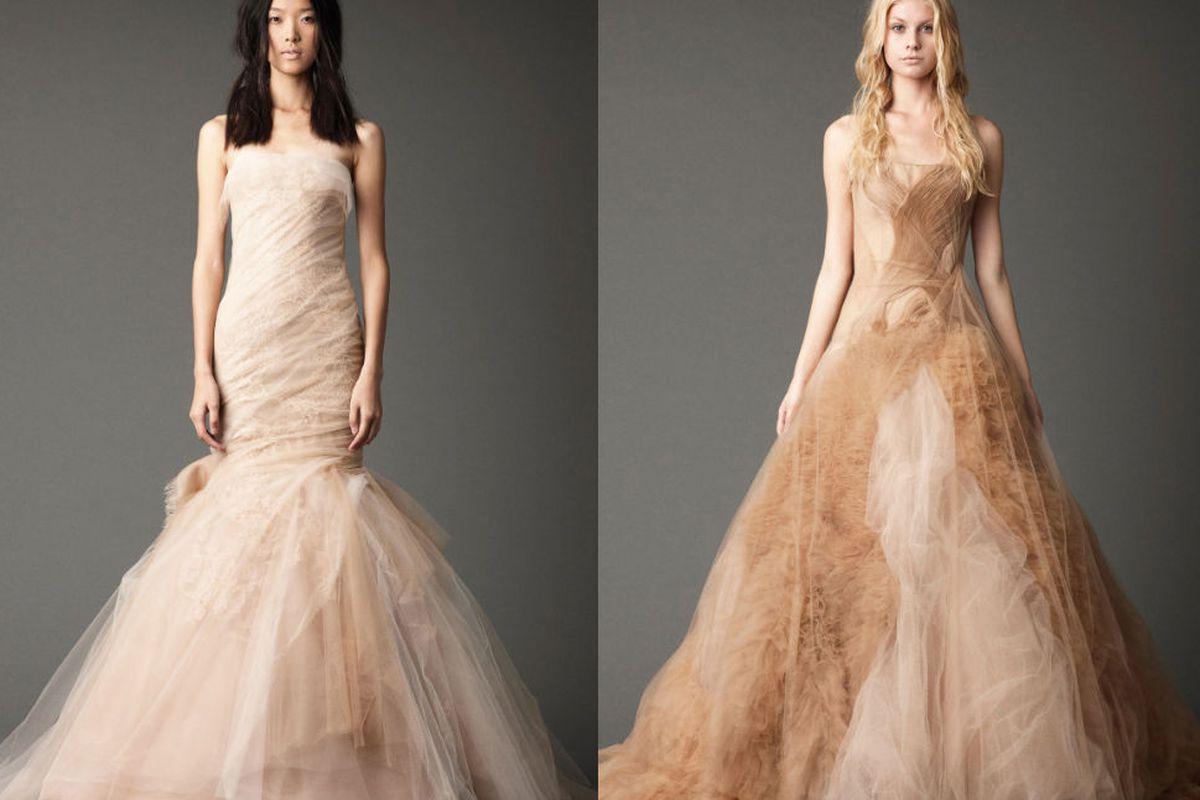 Dresses from Vera's Fall 2012 collection. Photos via Vera Wang.