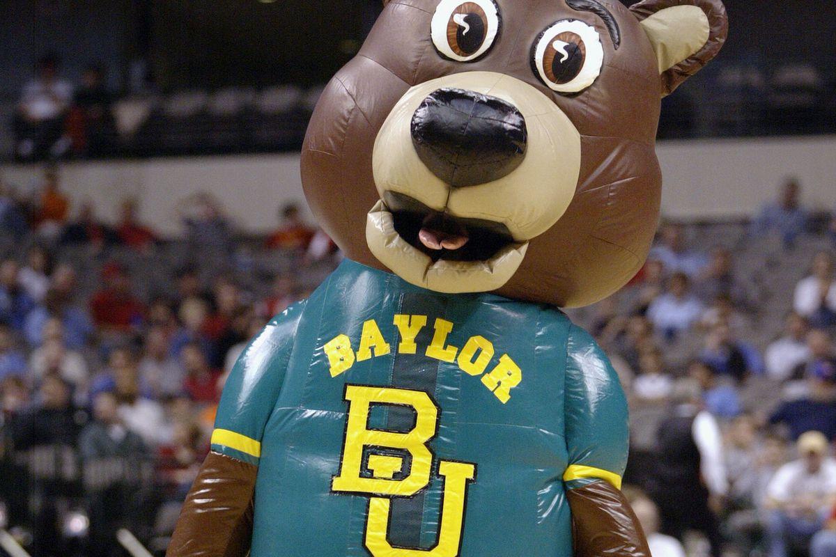The Baylor Bears mascot