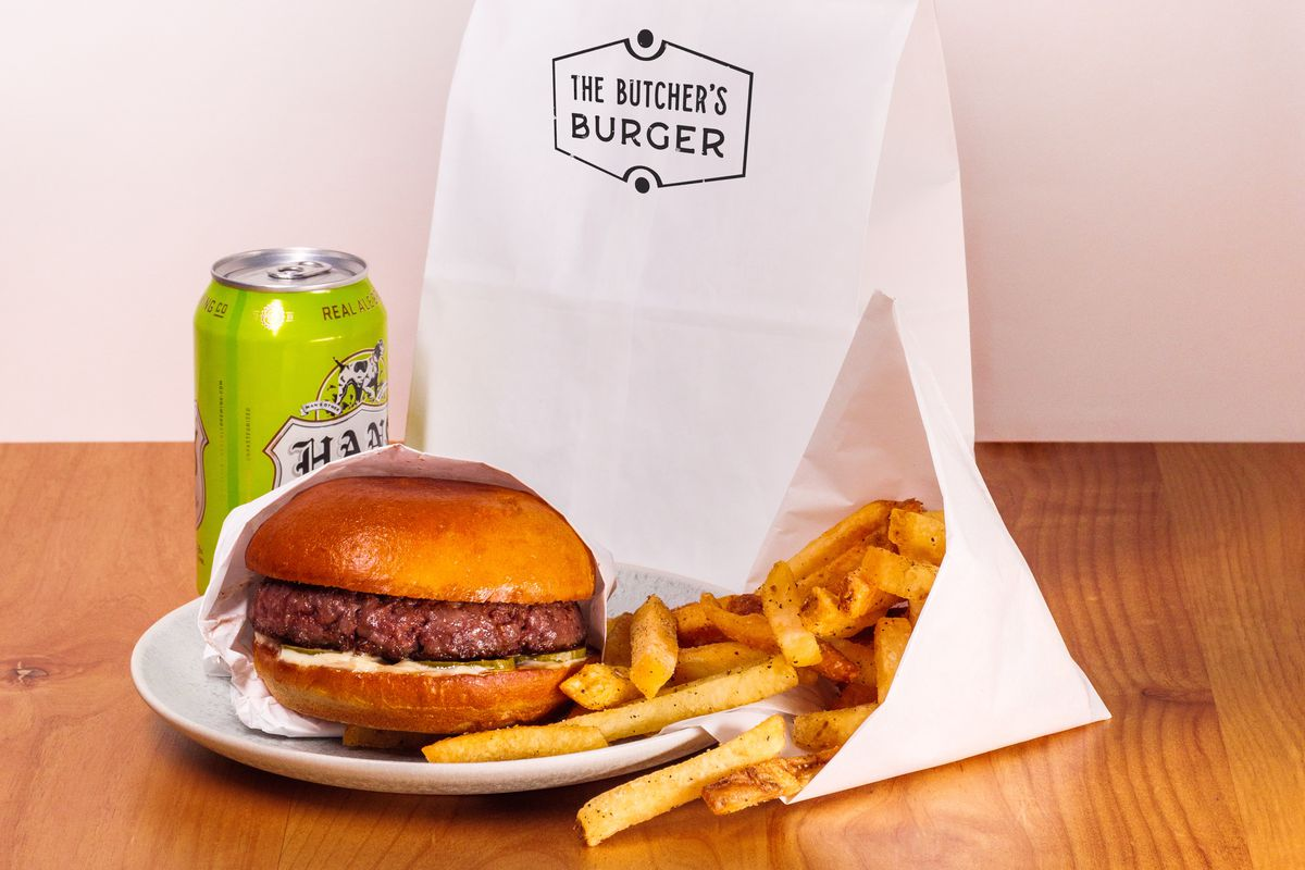 The Butcher's Burger from Salt & Time's new delivery service restaurant