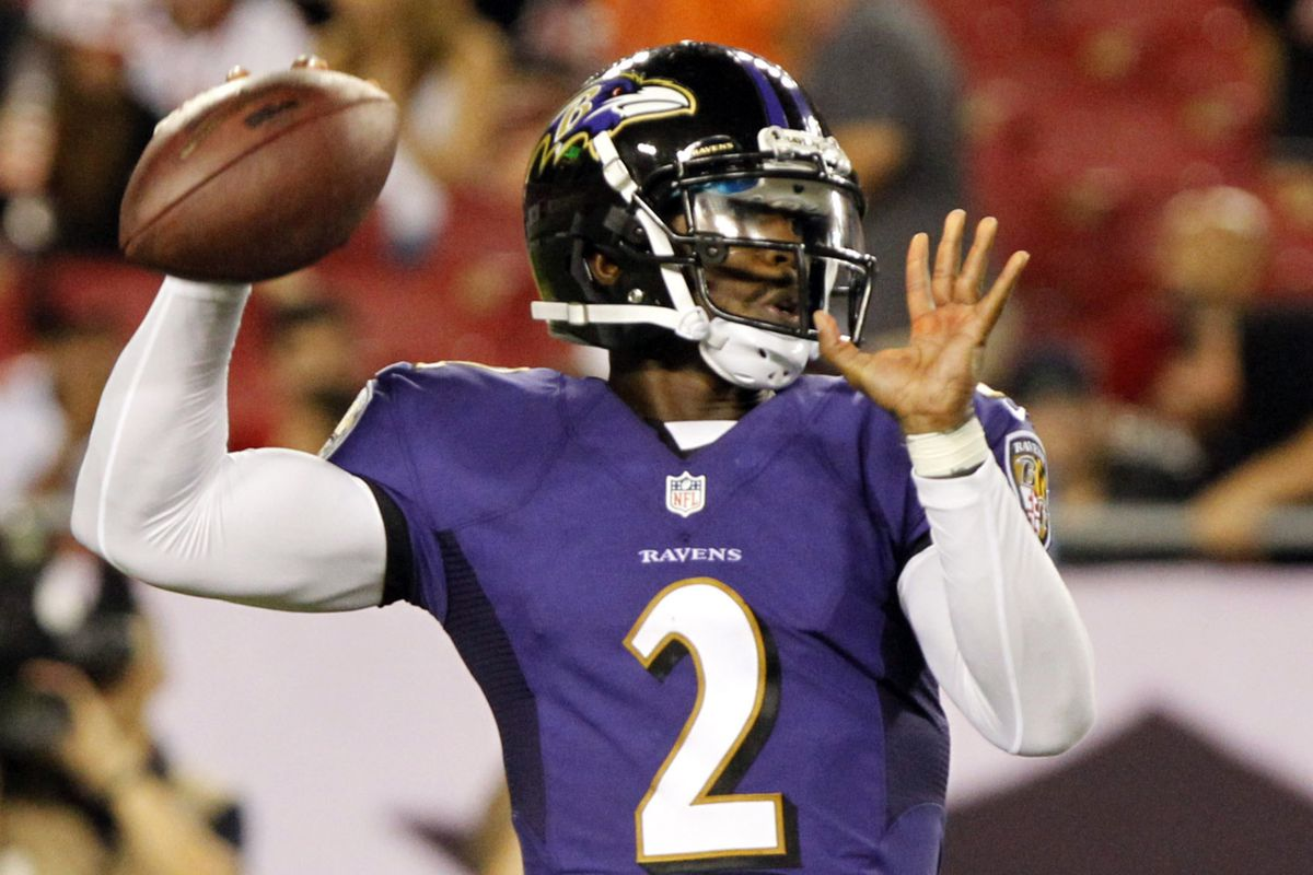 Tyrod Taylor completed 13 of 23 passes for 154 yards and two touchdowns against Tampa Bay.