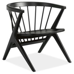 Soren Lounge Chair in in solid maple with ebony stain. Was: $649; Now: 499.99