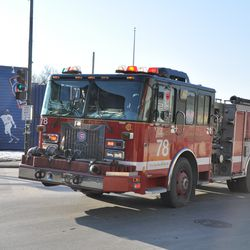 CFD Engine 78 going out on a run, taken at Clark and Addison -