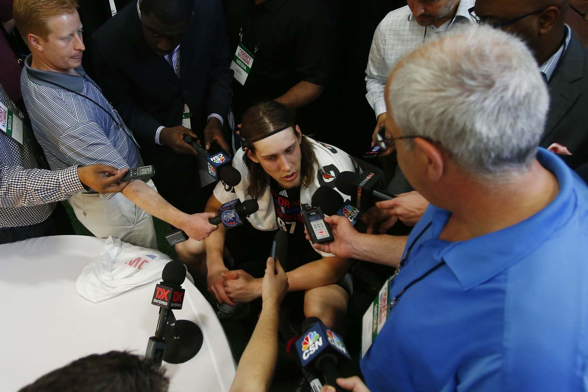Kelly Olynyk preps for the Draft and this could actually be a part of it ...
