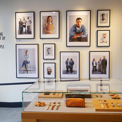 A photo gallery highlighting a few of Shinola's talents greets you when you arrive.