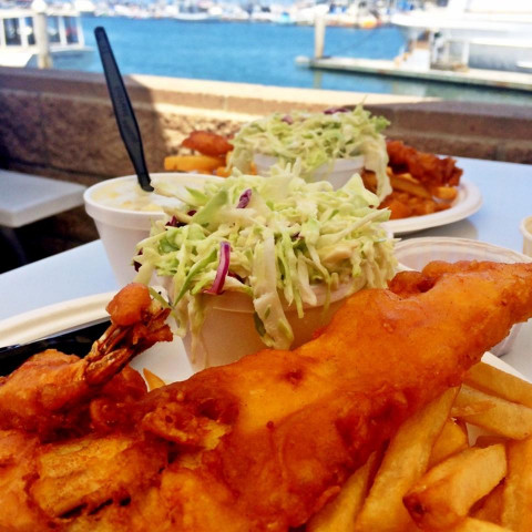 Fish and chips at Oceanside harbor