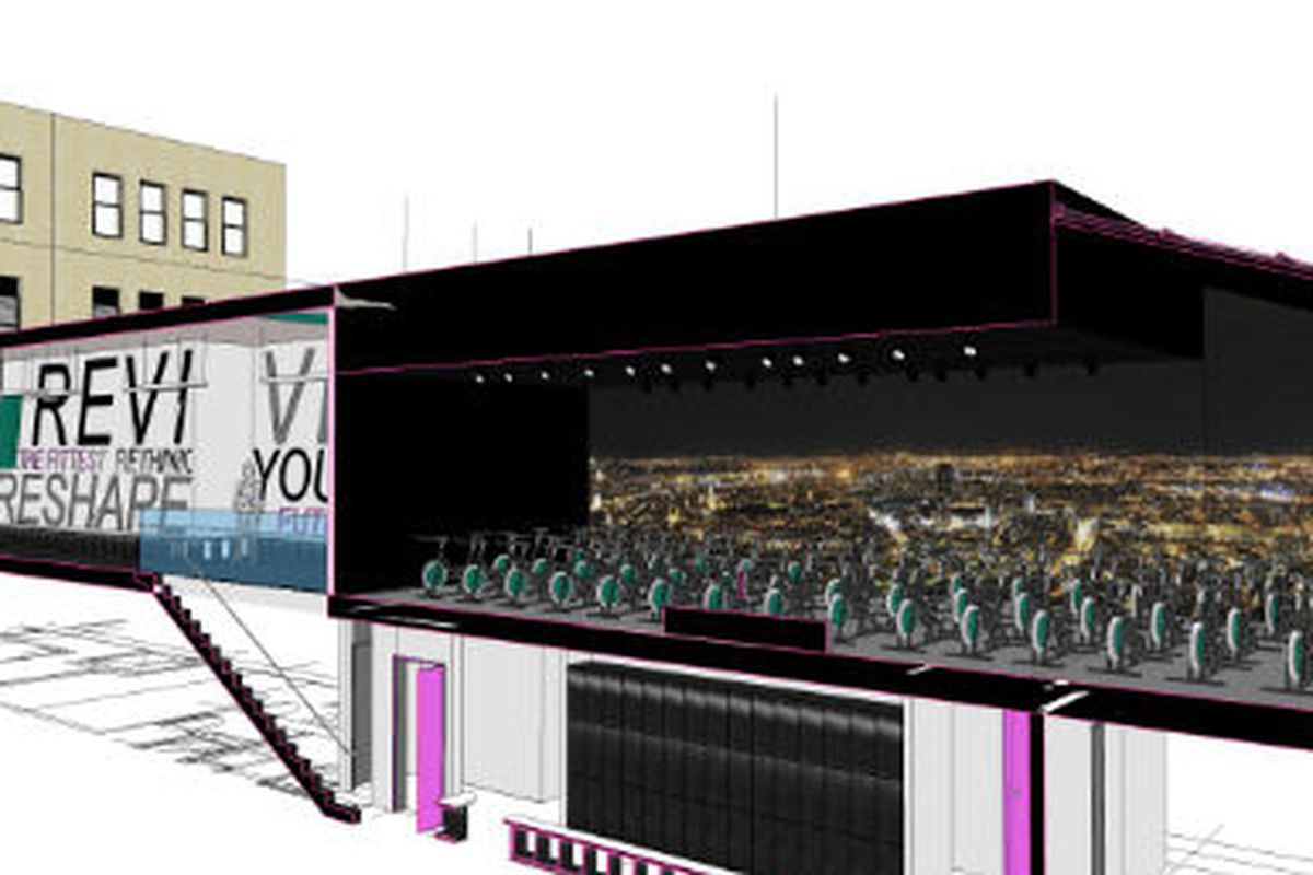 """A rendering of Revolve's upcoming studio via <a href=""""http://www.wellandgoodnyc.com/2012/06/25/spin-scene-shake-up-revolve-enters-the-soulcycle-flywheel-landscape/#"""">Well + Good NYC</a>"""