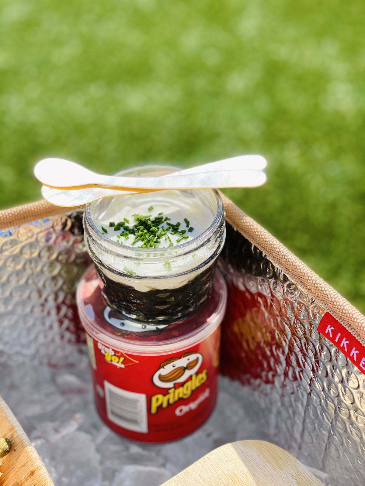 A package of Pringles and caviar costs $75.