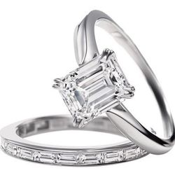 Harry Winston Emerald-Cut Solitaire: Price upon request
