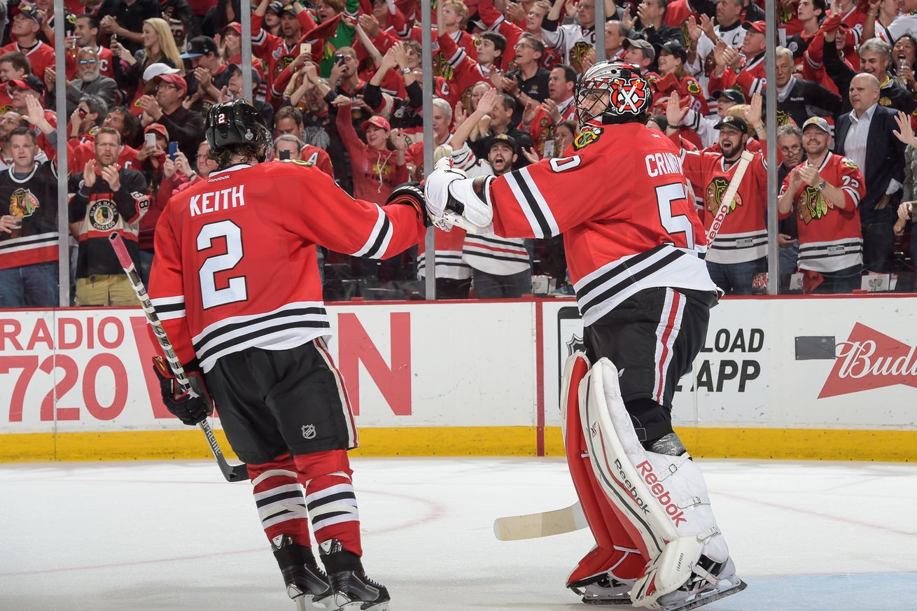 Corey Crawford, Duncan Keith, Erik Gustafsson will not attend 2019 Blackhawks Convention