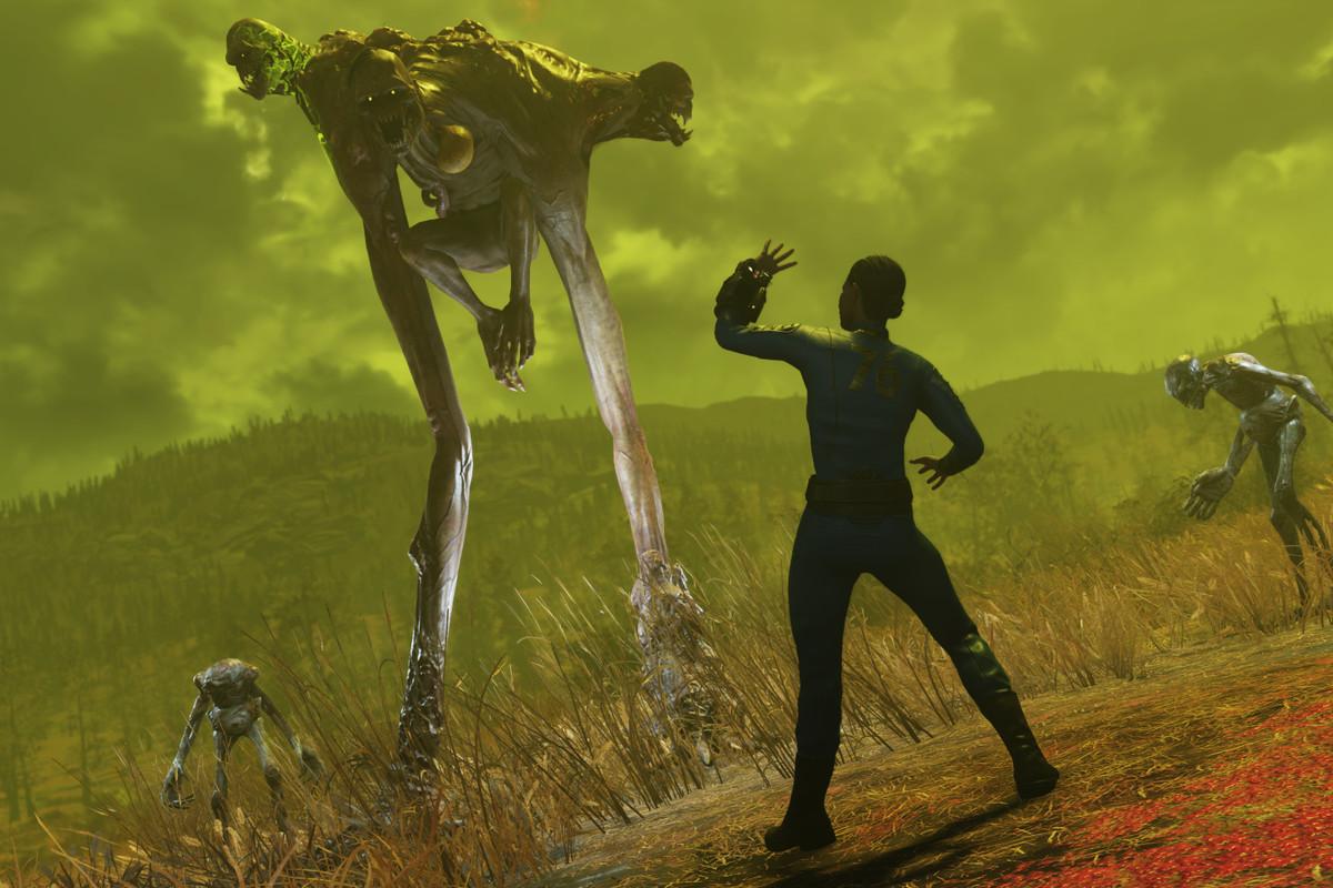 The grotesque Wendigo, a creature in Fallout 76's horrifying post-apocalyptic world