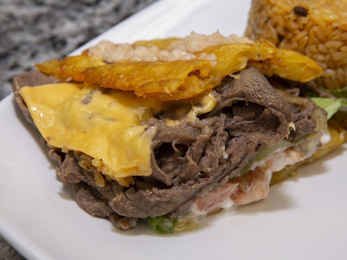 A jibarito sandwich.