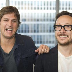 """This July 10, 2012 photo shows Rob Thomas, left, and Paul Doucette of Matchbox Twenty in New York. Matchbox Twenty's new album, """"North,"""" debuted at No. 1 on Billboard's 200 albums chart this week. It is the band's first full-length album since 2002's """"More Than You Think You Are."""""""