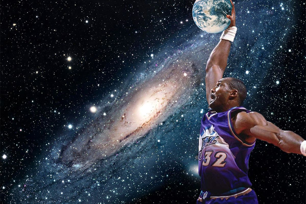 <strong>Karl Malone: Destroyer of Worlds</strong> Image created by AllThatJazzBasketball / Amar