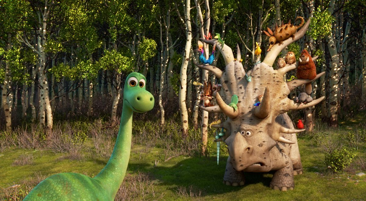 Arlo and the horned dinosaur