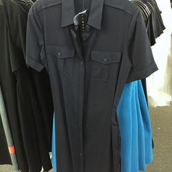 Navy Stenna dress, $149 (was $395)