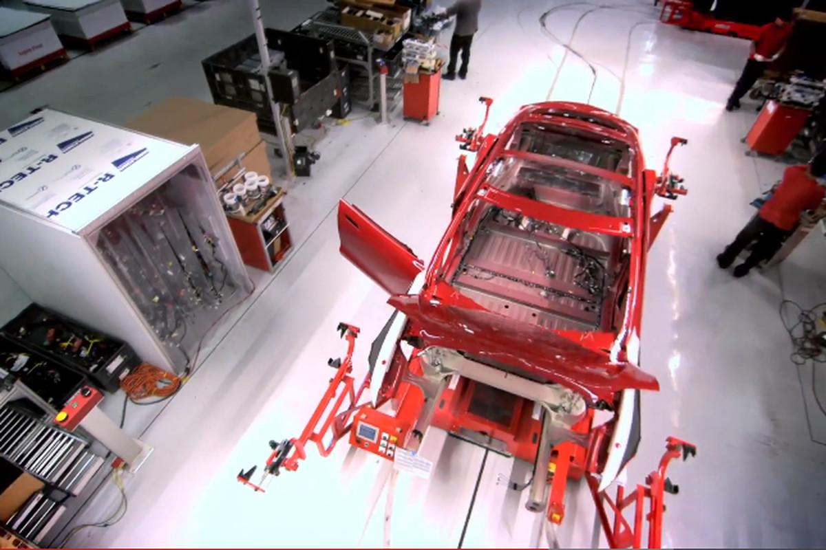 tesla model s manufacturing