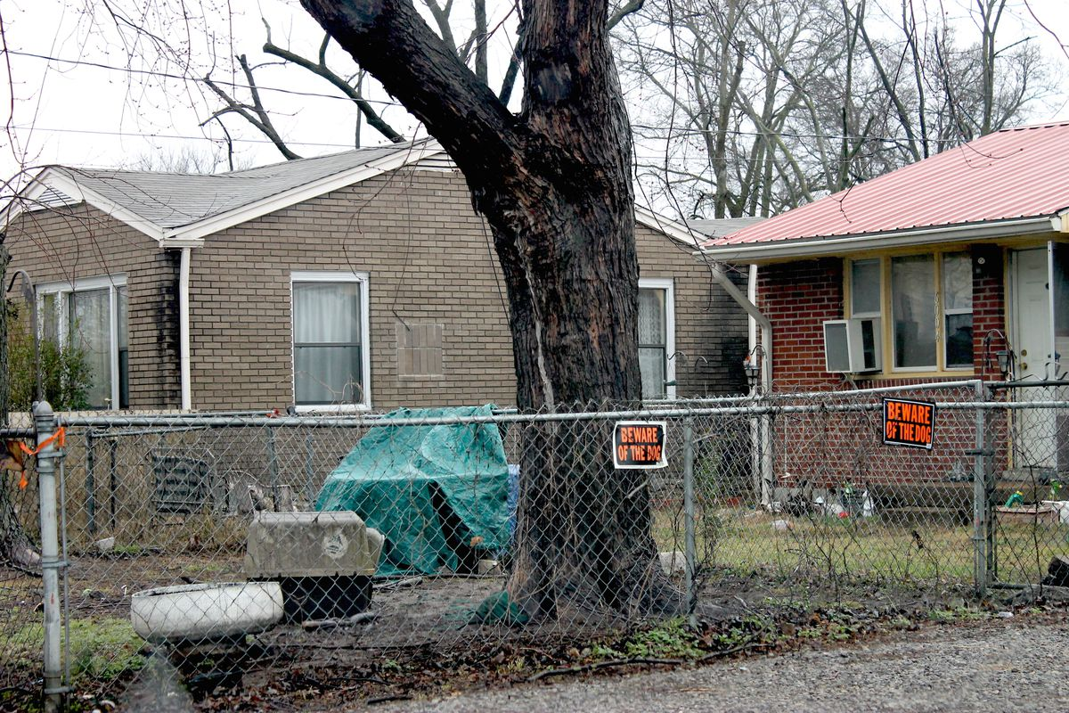 A low-income neighborhood of Nashville, Tenn., where almost one-fifth of the population lives under the poverty line, according to U.S. Census data.