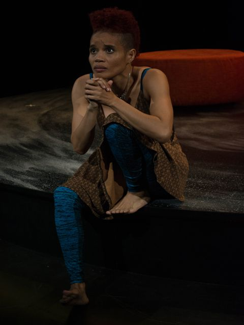 """StaceyAnn Chin in her one-woman show, """"Motherstruck,"""" headed to the Greenhouse Theater Center. (Photo: Courtesy of The Greenhouse Theater Center)."""