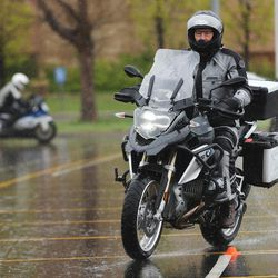 Eighty riders take a motorcycle skills course at Salt Lake Community College Jordan Campus in West Jordan on Saturday, April 8, 2017. Zero Fatalities teamed up with Harrison Eurosports for the course, which offered instruction on riding techniques and defensive riding.