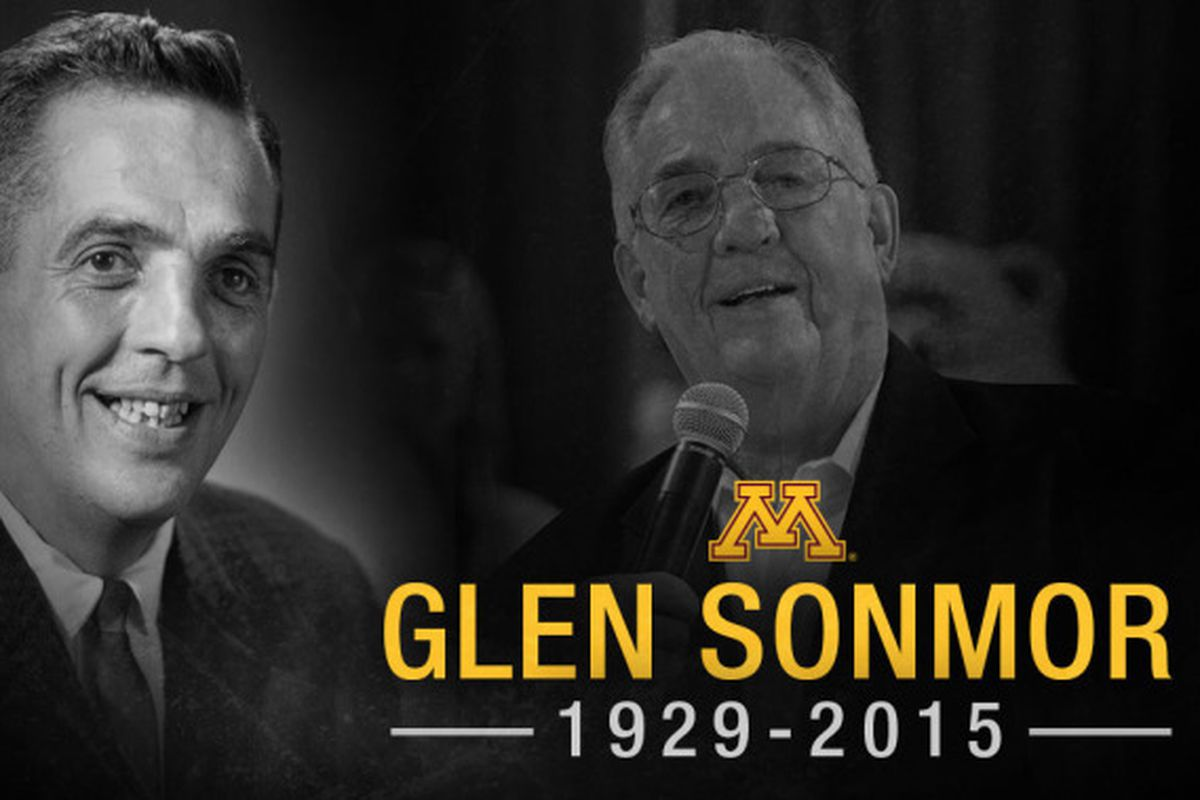 Gopher legend Glen Sonmor died at the age of 86