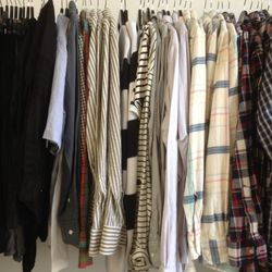 Men's shirts ranged from $10 to $50.