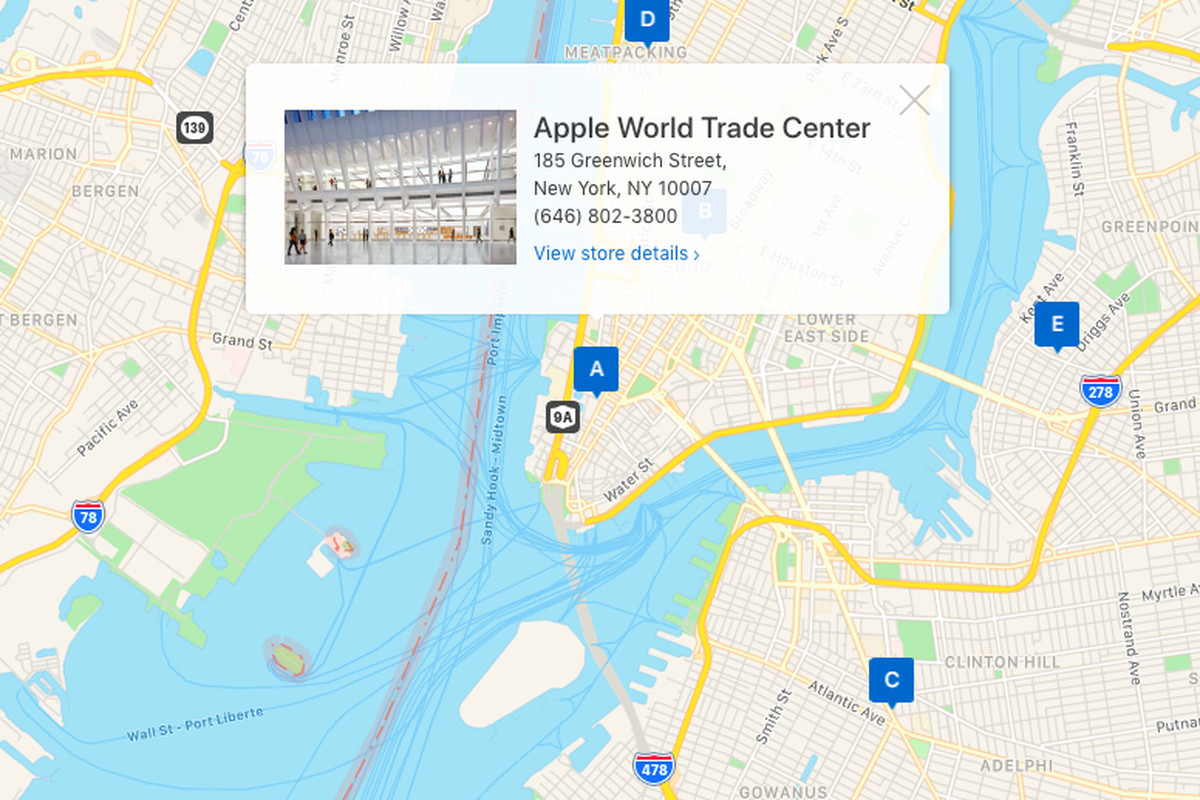 Apple Maps embeds have come to web browsers in beta - The Verge on apple headquarters, apple supply chain map, outlet mall map, apple customer service, apple site map, apple logo, apple of the world, tales of vesperia map, coldwater creek map, apple terms and conditions, apple company location, ebay map, apple iphone timeline, micro center map, apple leasing, apple maps pc, apple warehouse locations, apple maps icon, google map, apple products,