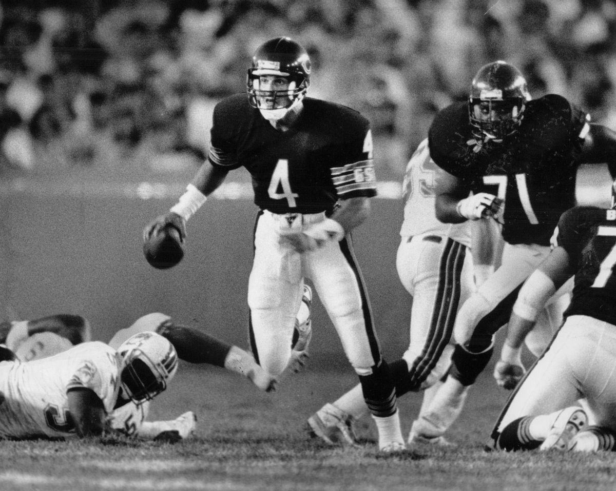 Jim Harbaugh had toughness, heart and resilience. But in a Mike Ditka offense built around the run, he never developed into anything more than a complementary piece.